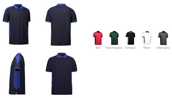 Produktbild für: ID: PRO WEAR Poloshirt Herren I Kontrast