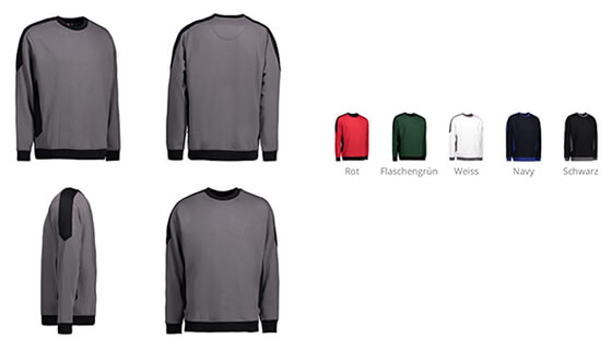 Produktbild für: ID 0362  PRO WWAR SWEAT-SHIRT I Kontrast